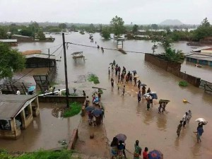 flooding area in Mangochi, Malawi