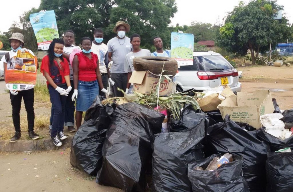 Clean Up Green Up team Greek Orthodox Church Zimbabwe