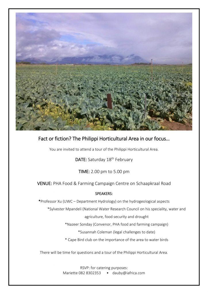 Invitation to PHA information day