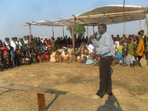 Mc Carthy Samalani at eco-awareness meeting