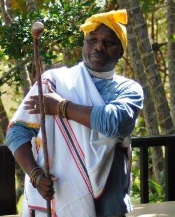 Sinegugu Zukulu at launch of Medicinal Herbs of Pondoland