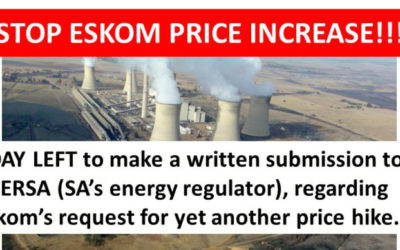 Last chance to have your say on the Eskom tariff increase request