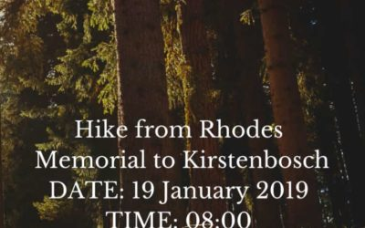 GreenFaith Hike from Rhodes Memorial to Kirstenbosch – 19 January 2019