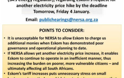 NERSA Public Hearings: Have your say on the Eskom tariff increase request