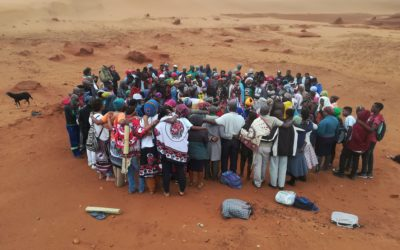 Spiritual healers pray for sacred places and spaces with mining affected communities in Eastern Mpondoland