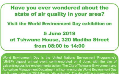 City of Tshwane – World Environment Day exhibition invitation