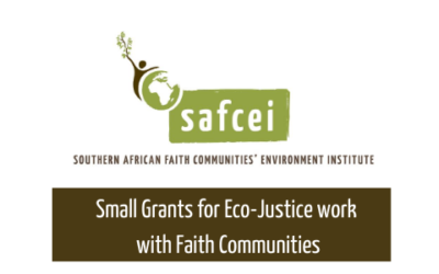 Small grants for eco-justice work with faith communities