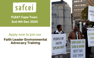 Apply now to join our Faith Leader Environmental Advocacy Training in Cape Town