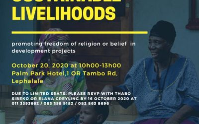Faith and sustainable livelihoods – 20 October 2020