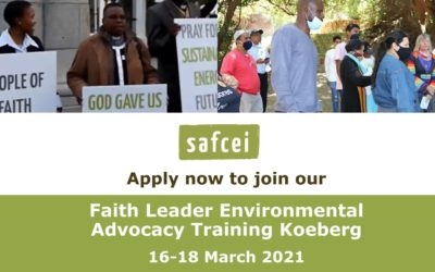 APPLY: Join our new Koeberg Faith Leader Environmental Advocacy Training – 16 to 18 March 2021