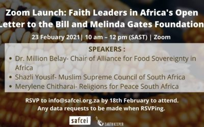 Zoom Launch: Faith Leaders in Africa's Open Letter to the Bill and Melinda Gates Foundation – 23 February 2021