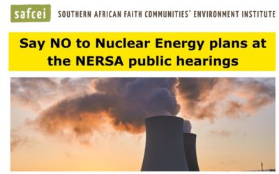 Say NO to Nuclear Energy plans at the NERSA public hearings on 23 February