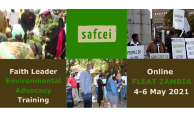 APPLY: Join our new online Zambia Faith Leader Environmental Advocacy Training – 4 to 6 May April 2021