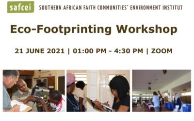 Eco-Footprinting Workshop – 21 June 2021
