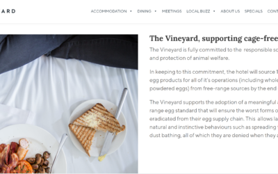 Vineyard Hotel to go cage-free by the end of 2021